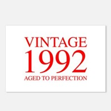 VINTAGE 1992 aged to perfection-red 300 Postcards