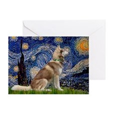 Starry Night & Husky Greeting Cards (Pk of 20)