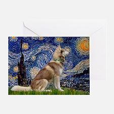 Starry Night & Husky Greeting Card