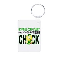 SCI MessedWithWrongChick1 Aluminum Photo Keychain