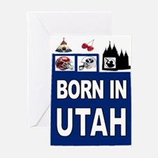 UTAH BORN Greeting Cards