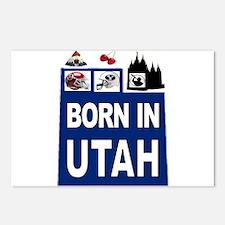 UTAH BORN Postcards (Package of 8)