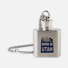 UTAH BORN Flask Necklace
