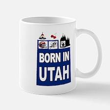 UTAH BORN Mugs