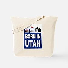 UTAH BORN Tote Bag