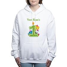 CUSTOM One Year Old Green Women's Hooded Sweatshir
