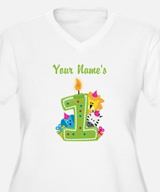 CUSTOM One Year Old Green Plus Size T-Shirt