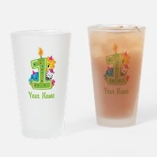 CUSTOM One Year Old Green Drinking Glass