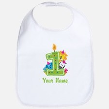 CUSTOM One Year Old Green Bib