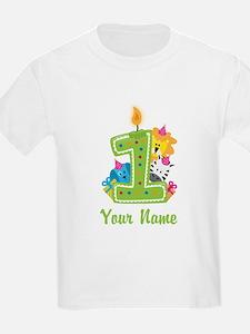 CUSTOM One Year Old Green T-Shirt