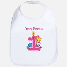 CUSTOM One Year Old Pink Bib