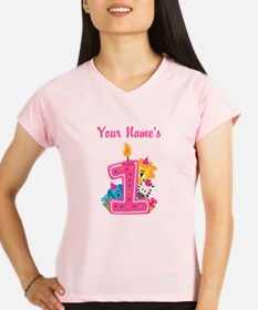 CUSTOM One Year Old Pink Performance Dry T-Shirt