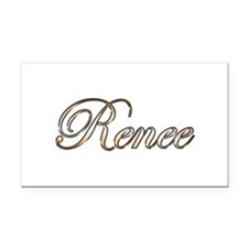Gold Renee Rectangle Car Magnet