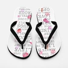 Romantic Rose Petals Inspirational Flip Flops