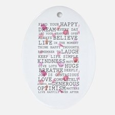 Romantic Rose Petals Inspirational Ornament (oval)