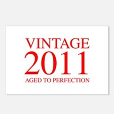 VINTAGE 2011 aged to perfection-red 300 Postcards