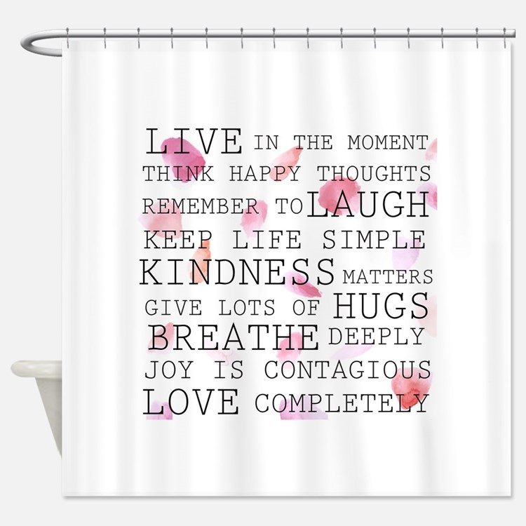 Inspirational Words Shower Curtains Inspirational Words Fabric