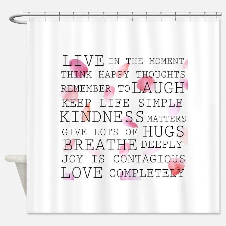 Inspirational Shower Curtains Inspirational Fabric Shower Curtain Liner