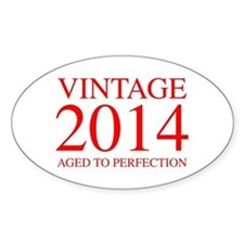 VINTAGE 2014 aged to perfection-red 300 Decal