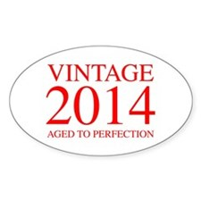 VINTAGE 2014 aged to perfection-red 300 Stickers