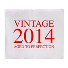 VINTAGE 2014 aged to perfection-red 300 Throw Blan