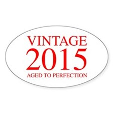 VINTAGE 2015 aged to perfection-red 300 Decal