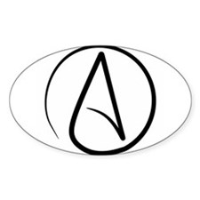 Cute Atheist symbol Decal