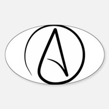 Unique Atheist symbol Decal