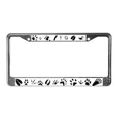 Animal Tracks License Plate Frame