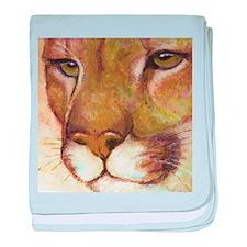 Puma baby blanket