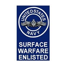 Surface Warfare Enlisted <BR>Decal
