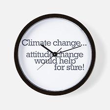 Global warming Wall Clock