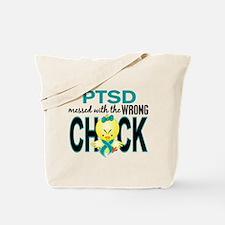 PTSD MessedWithWrongChick1 Tote Bag