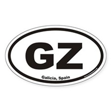 Galicia Spain GZ Euro Oval Decal