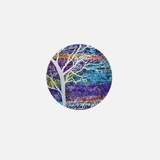 Abstract Tree landscape Mini Button