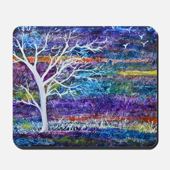 Abstract Tree landscape Mousepad