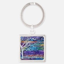 Abstract Tree landscape Square Keychain