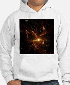 Flame swirls in red and black Hoodie