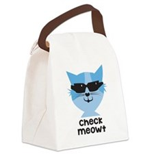 Check Meowt Canvas Lunch Bag