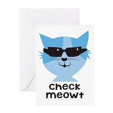 Check Meowt Greeting Card
