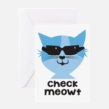 Check Meowt Greeting Card