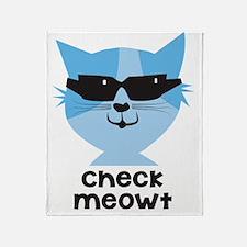 Check Meowt Throw Blanket