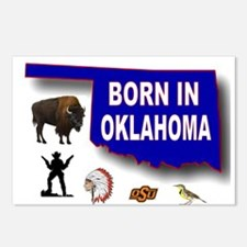 OKLAHOMA BORN Postcards (Package of 8)