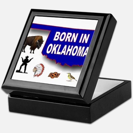 OKLAHOMA BORN Keepsake Box