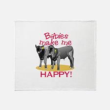 Make Me Happy! Throw Blanket