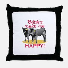 Make Me Happy! Throw Pillow