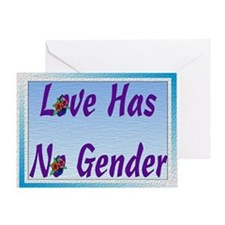 Love Has No Gender Greeting Card