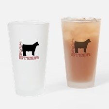Show Steer Drinking Glass