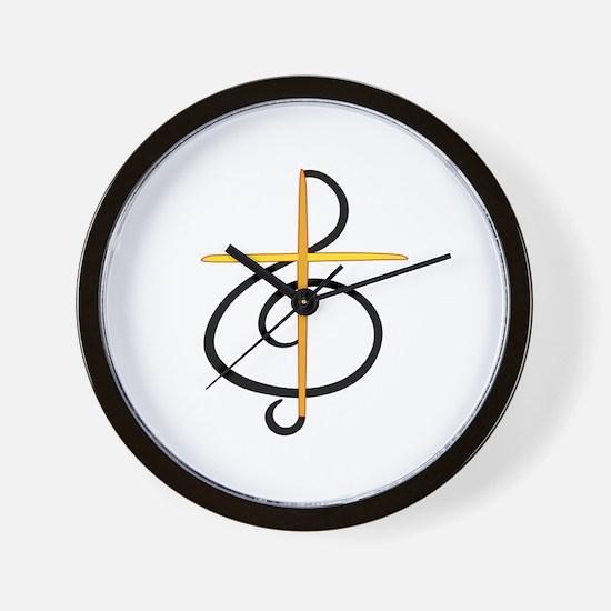 Church Musician Wall Clock
