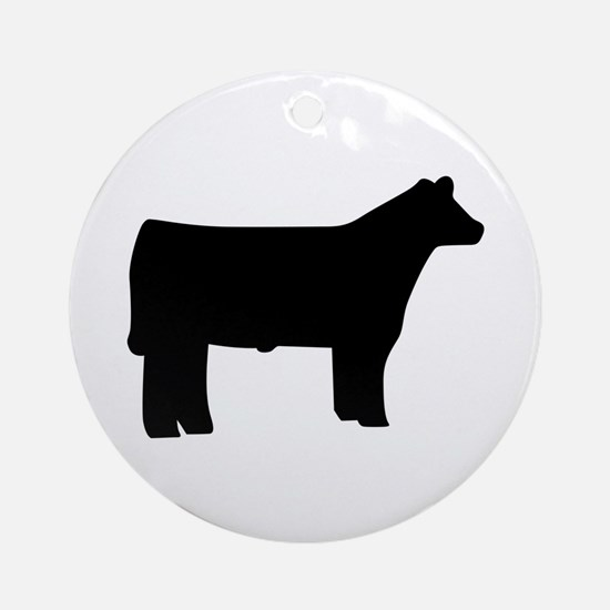 Steer Ornament (Round)